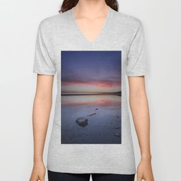 """Purple....."" Tarifa beach. Unisex V-Neck"