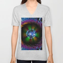 Creations in the color spectrum of the rainbow 1 Unisex V-Neck