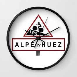 Alpe d'Huez Road Sign Wall Clock
