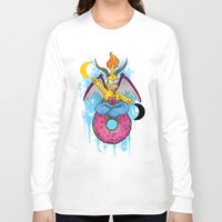 baphomet Long Sleeve T-shirts featuring Homer The Baphomet by Conversa entre Adeptus