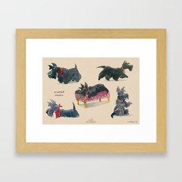Scottish Terriers Framed Art Print