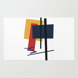 Tribute to K. Malevich (n.1) Rug