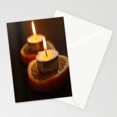 Orange Candles Stationery Cards