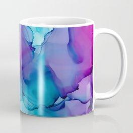 Alcohol Ink - Wild Plum & Teal Coffee Mug
