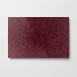 Red leather sheet background Metal Print