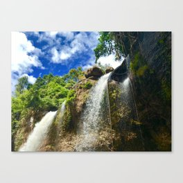 Side bottom view of the waterfall in North Eastern Thailand. Canvas Print