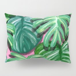 Tropical Palm Leaves Pillow Sham