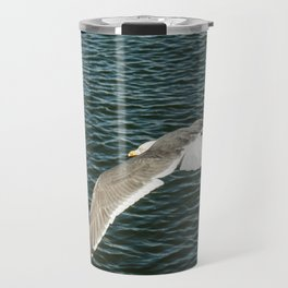 Fly seagull ocean Travel Mug