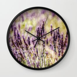 Smell the lavender Wall Clock