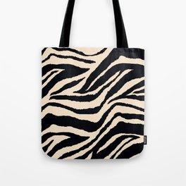 Zebra Animal Print Black and off White Pattern Tote Bag