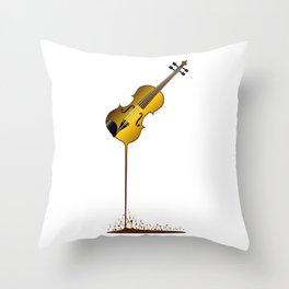 Liquid Violin Throw Pillow