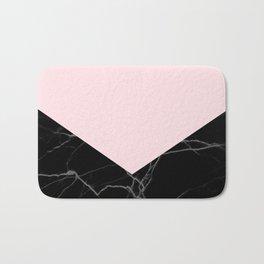 light pink and black marble Bath Mat