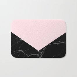 light pink and black marble Bath Mat