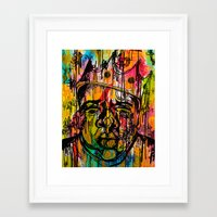 notorious Framed Art Prints featuring Notorious  by Lauren Mair