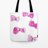 bows Tote Bags featuring Bows  by BruiseViolet