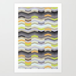 Modern Chevron - Fresh Green Art Print