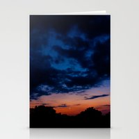 kansas Stationery Cards featuring Kansas Sunset by Alden Heck