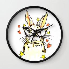 Geek Love Bunny Wall Clock