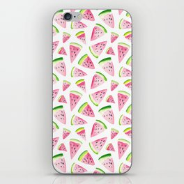Watercolor Watermelon Pattern iPhone Skin