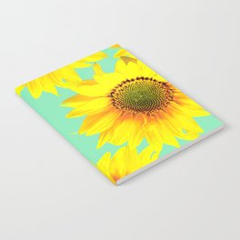 Sunflowers on a pastel green backgrond - #Society6 #buyart Notebook