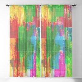 TIME TRAVEL Sheer Curtain