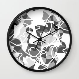 Geometric pattern (B&W) Wall Clock