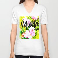 hawaii V-neck T-shirts featuring Hawaii by mattholleydesign