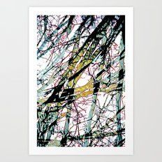 CRACKED CHINA Art Print