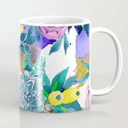Floral Patterns in Contemporary Designs and Colors Coffee Mug