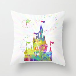 Castle of Magic Kingdom Throw Pillow