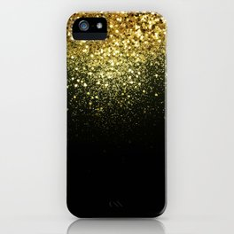 Sparkling Gold Glitter Glam #1 #shiny #decor #art #society6 iPhone Case