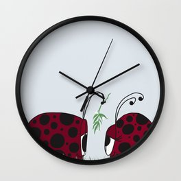 A Guaranteed Kiss Wall Clock
