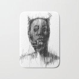 Surreal portrait Bath Mat