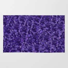 Violet flower background Rug