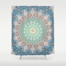 Earth Tone Pastels Mandala Shower Curtain