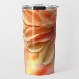 Peach Dahlia Haze Travel Mug