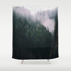 Forest Fog V Shower Curtain