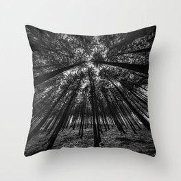 Oblivion Forest      (BW) Throw Pillow