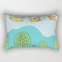 When Cats Fly Rectangular Pillow