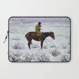 Frederic Remington - The Herd Boy, 1910 Laptop Sleeve