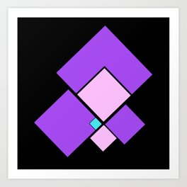 moving squares -11- Art Print