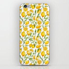 sunny lemons print iPhone Skin