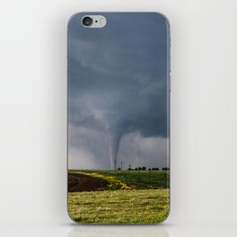 Twins - Two Tornadoes Touch Down Near Dodge City Kansas iPhone Skin