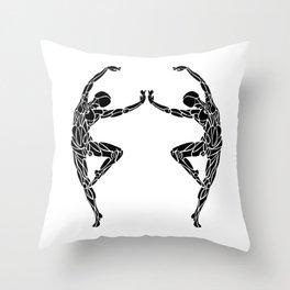 Ballet Pose Stencil # Dance_Ink Throw Pillow
