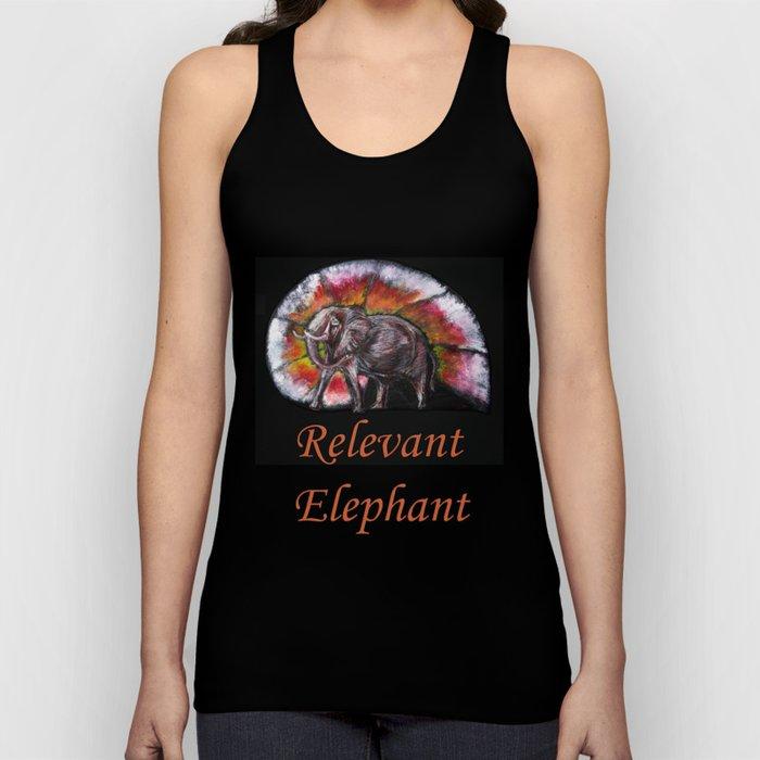 Relevant Elephant Unisex Tank Top