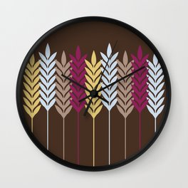 Harvest Wheat 4 Wall Clock
