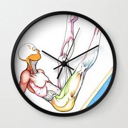 Long, male ballerina anatomy, NYC artist Wall Clock