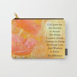 Serenity Prayer Orange Poppy Garden Glow Carry-All Pouch