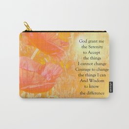 Serenity Prayer Orange Poppy Garden Glow Carry-All Pouch