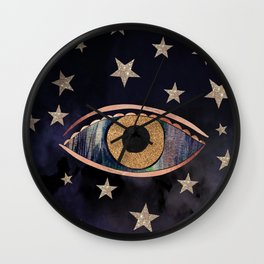 Open your third eye Wall Clock